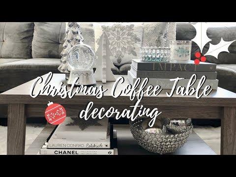 CHRISTMAS COFFEE TABLE DECOR IDEAS 2017