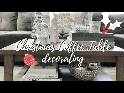 CHRISTMAS DECORATING IDEAS    COFFEE TABLE