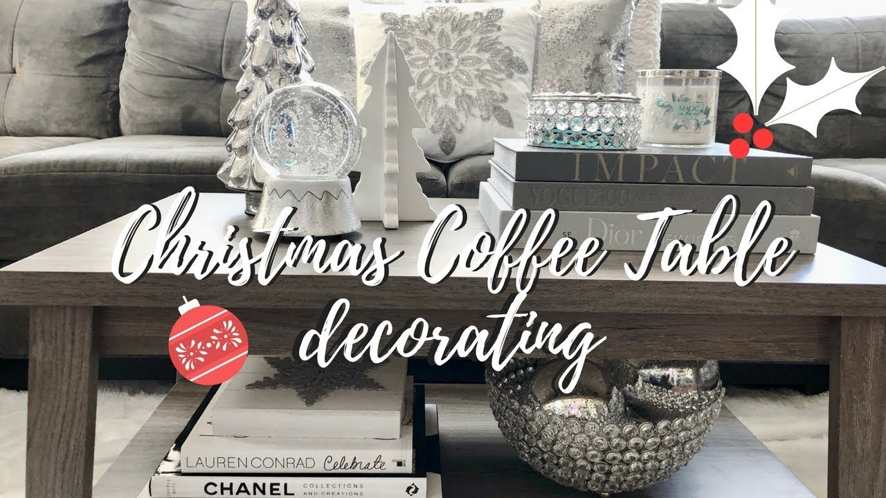 christmas decorating ideas coffee table