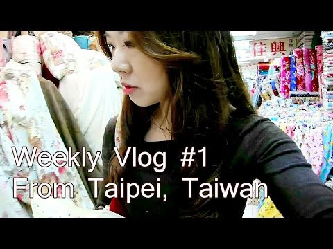 Weekly Vlog #1 First ever vlog! Dress making, fabric cost in Taiwan and ice skating