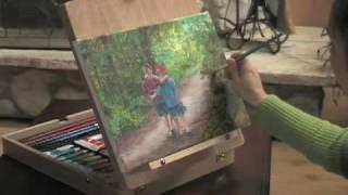 48-pc Artist's Easel-paint Set
