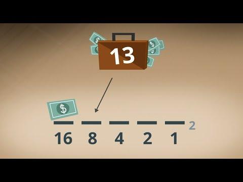 Перевод из десятичной в двоичную систему счисления