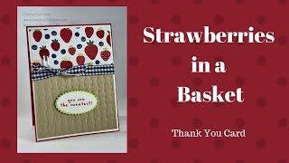 Stampin Up Tutti-Frutti Thank You Card
