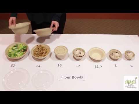 Compostable Fiber Bowls Demonstration By Good Start Packaging