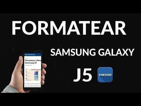 Formatear o Resetear Samsung J5
