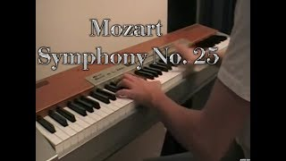 Mozart - Symphony No. 25 Piano cover (+sheet)