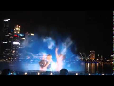 3D laser Hologram show in Singapore Marina Bay