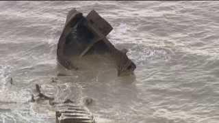 Epaves découvertes aux grandes marées près du Havre