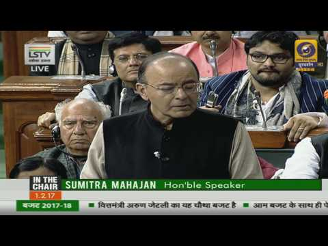 Presentation of the Union Budget (including Railways) by Finance Minister Arun Jaitley
