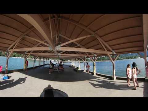 Hanalei pier Kauai Hawaii HI 360 VR raw 2016OCT08