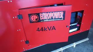 Генератор EUROPOWER EPS 44 TDE, огляд генератора