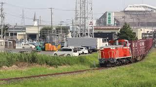 八戸臨海鉄道 DD16形 12レ 北沼~八戸貨物 2019年8月7日