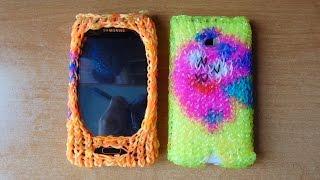 Плетение из резинок чехол на телефон узор Нюша часть1.