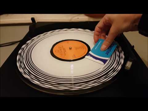 ASMR~Cleaning a Record with Wood Glue