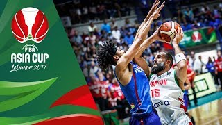Highlights from Lebanon v Philippines in Slow Motion - Quarter-Final - FIBA Asia Cup 2017