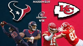 HOUSTON TEXANS vs KANSAS CITY CHIEFS | AFC DIVISIONAL GAME | MADDEN 20 SIMULATED GAMEPLAY