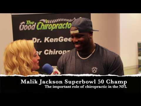 Superbowl Champion gets chiropractic adjustment