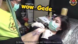Tukang Tato Ini Gagal Fokus ☺️☺️😍,tato Kali Ini Didada
