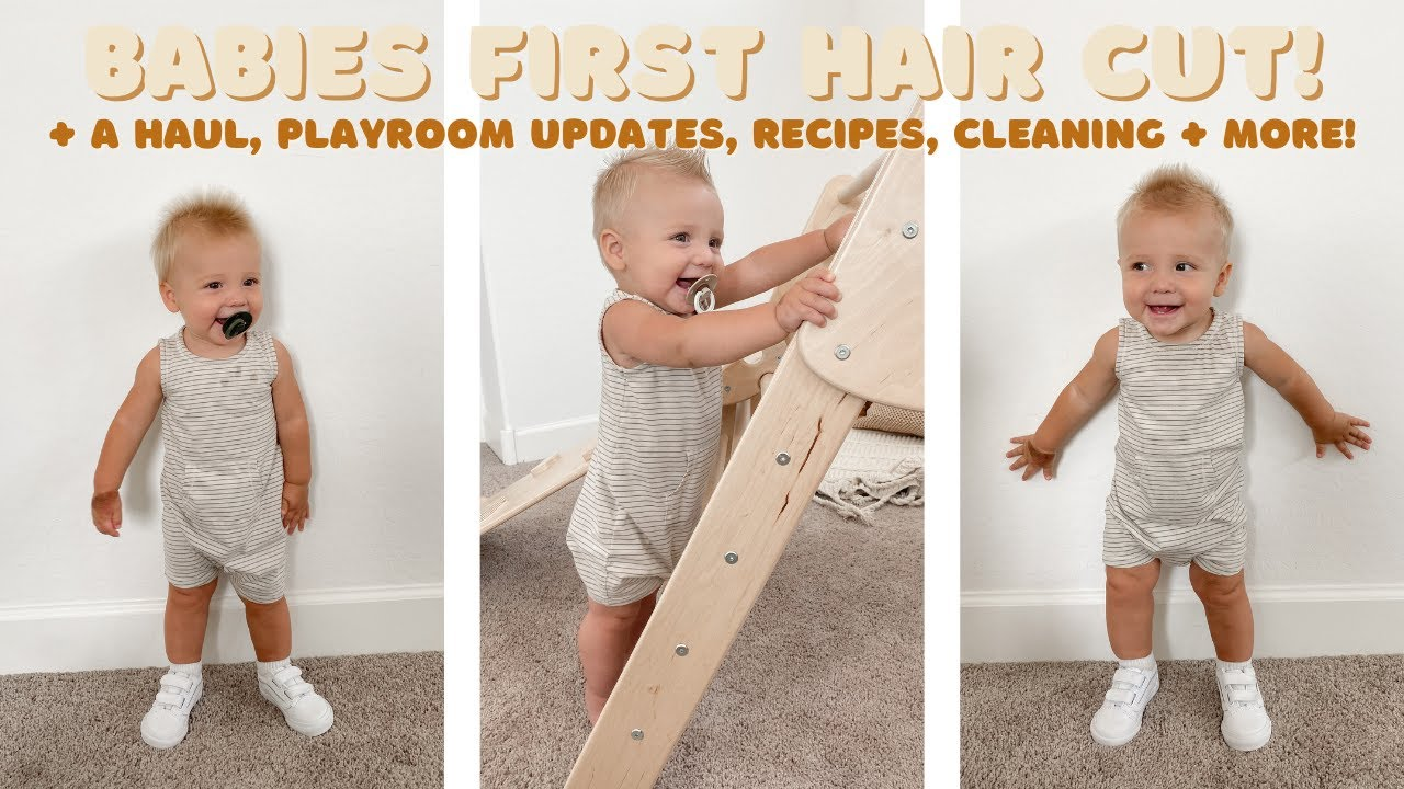 day in the life vlog    babies first hair cut, haul, playroom updates + more!