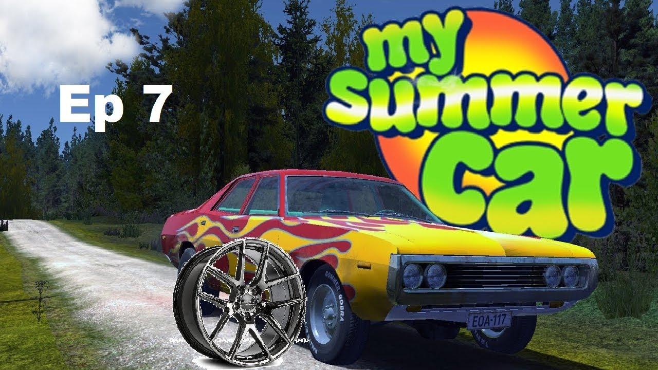 My Summe Car Ep 7 Colocando A Roda Gameplay Ptbr Youtube