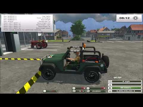 Farming Simulator 2013 Mods - Jeep Wrangler Forest Edition