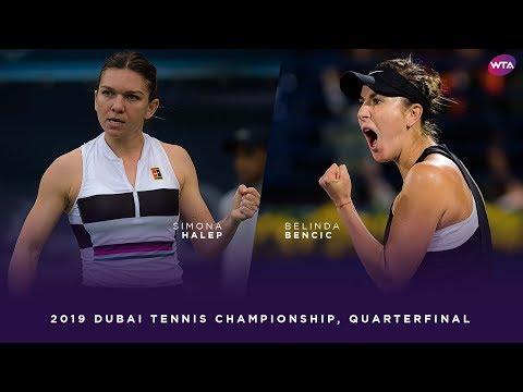 Simona Halep vs. Belinda Bencic   2019 Dubai Quarterfinal   WTA Highlights
