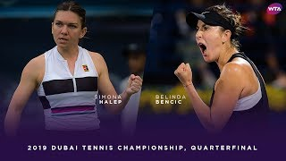 Simona Halep vs. Belinda Bencic | 2019 Dubai Quarterfinal | WTA Highlights