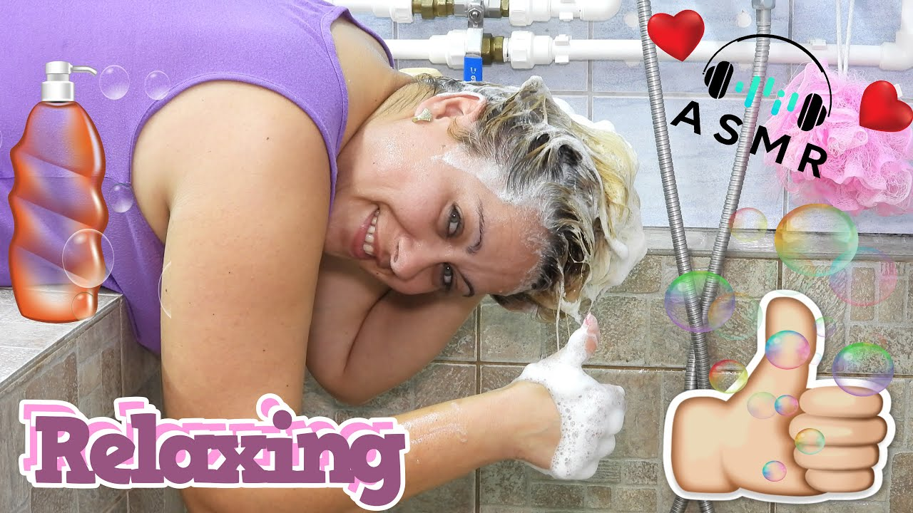 ASMR Relaxing Hair Washing / Balsam Treatment / Shampooing