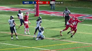 Montclair State Football Highlights vs. Wesley - 10/28/17
