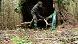 Bushcraft Wood Shaving Log