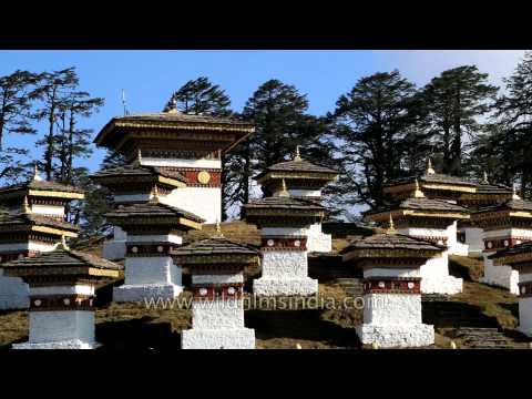 108 Stupas on Dochula pass - Bhutan