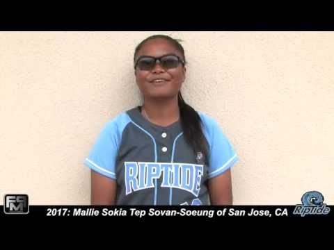 2017 Mallie Sokia Tep Sovan-Soeung Shortstop Softball Skills Video