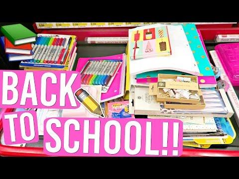 BACK TO SCHOOL SHOPPING FOR SCHOOL SUPPLIES!! AlishaMarieVlogs