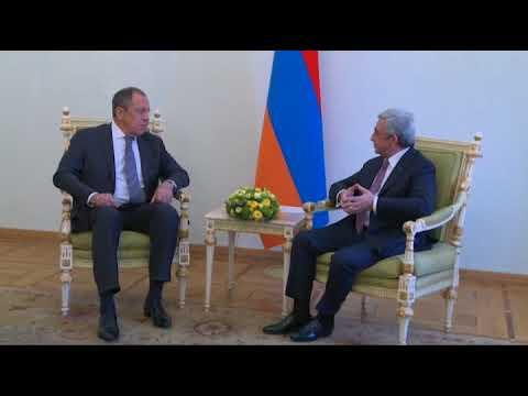 Встреча С.Лаврова и С.Саргсяна