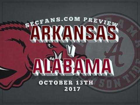 Alabama vs Arkansas - Preview & Prediction 2017 College Football - Bama Ark