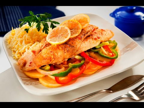 صينية السمك بالخضراوات