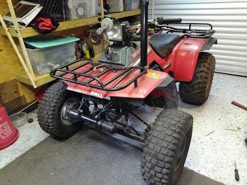 fourtrax 250 valve adjustment, snorkel, lift, and walk around