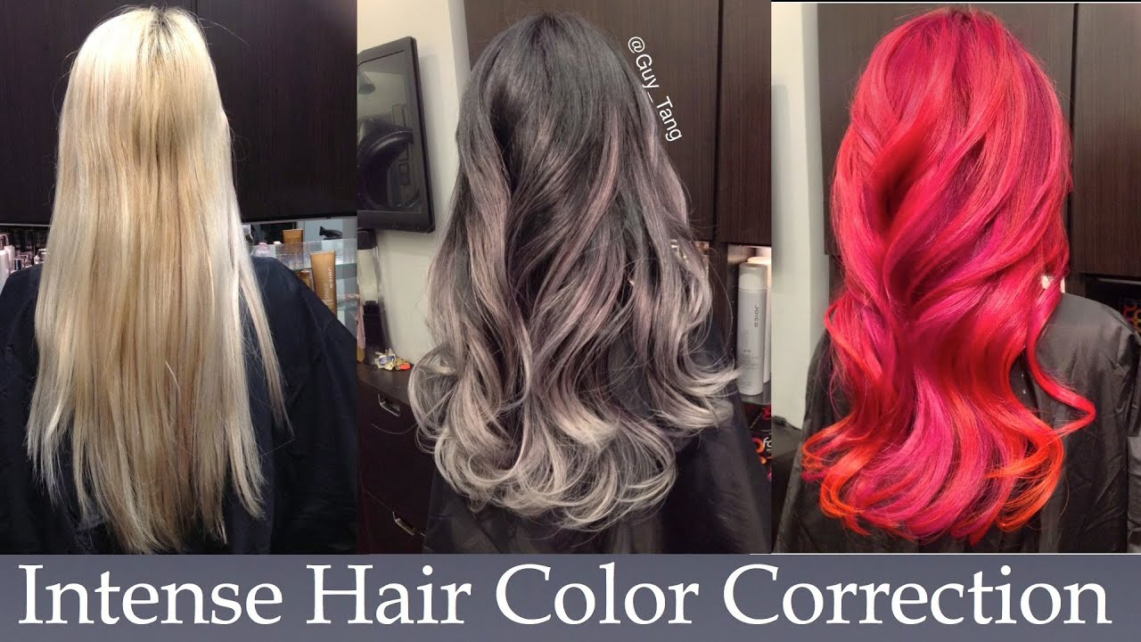 Intense Hair Color Correction - YouTube