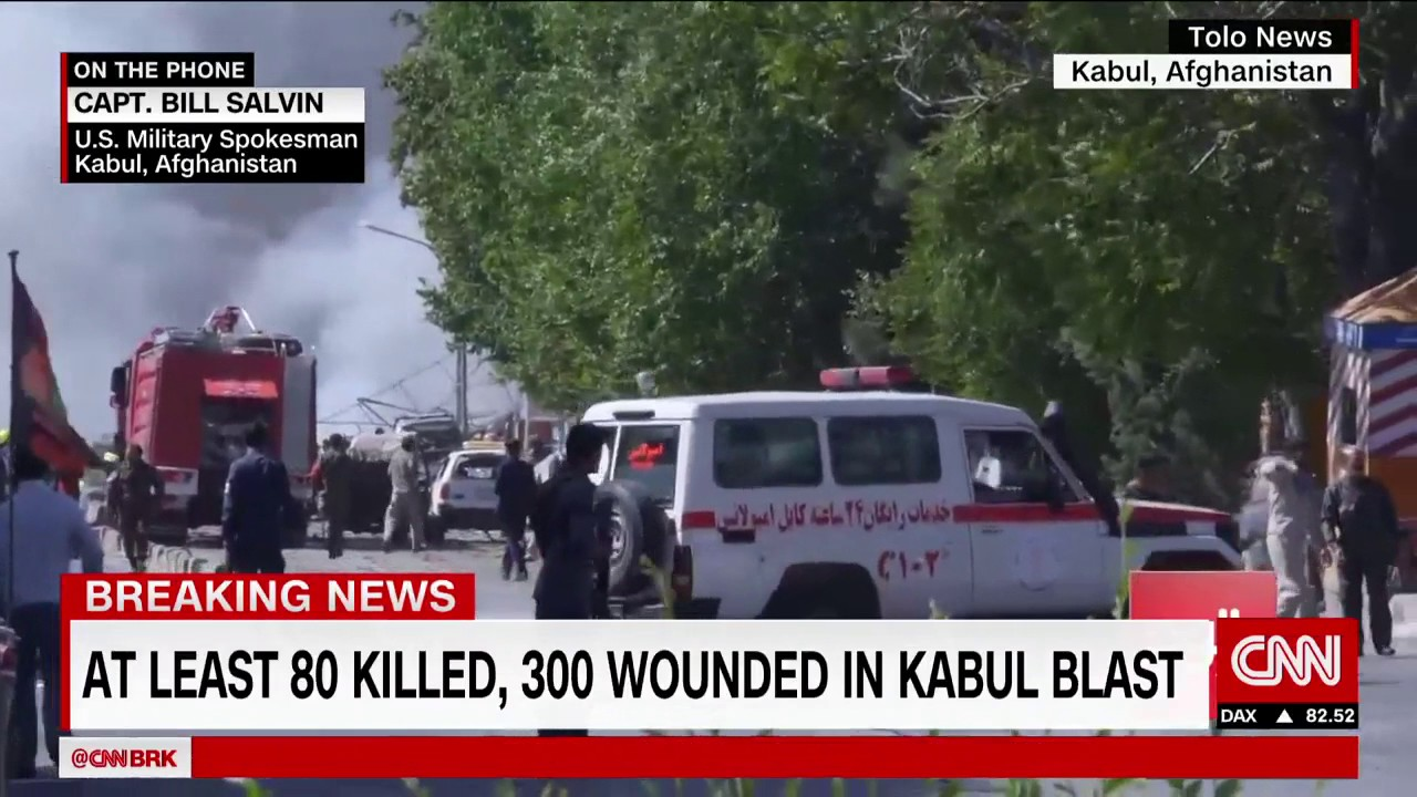 Massive blast in the heart of Kabul's diplomatic quarter kills at least 80
