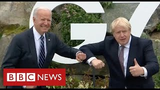 Boris Johnson and Joe Biden discuss Brexit and Northern Ireland at G7 summit - BBC News