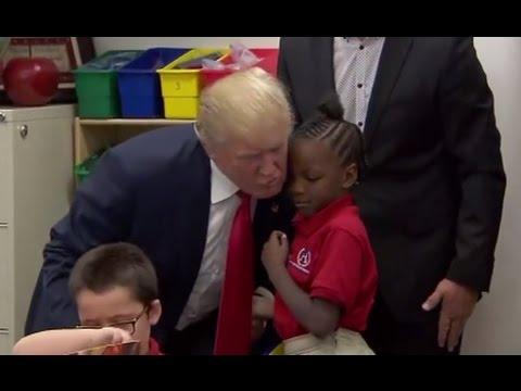 Trump Visits First-Grade Classroom