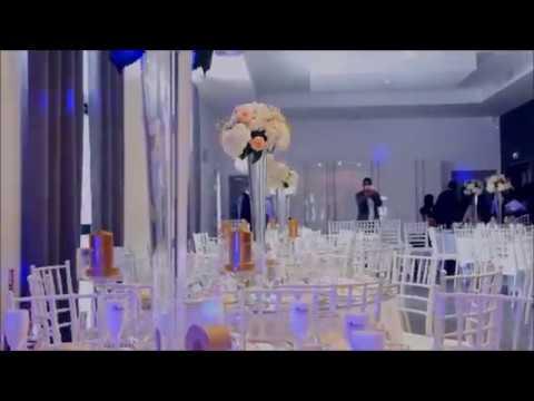 magnifique mariage romantique  salle de réception
