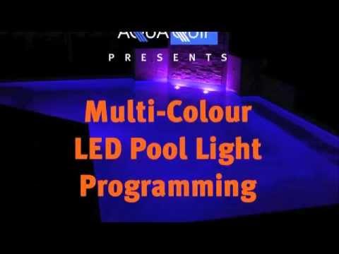 multi colour led pool light programming youtube. Black Bedroom Furniture Sets. Home Design Ideas