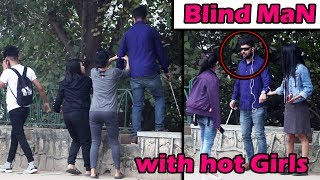 Super Girls saving blind man
