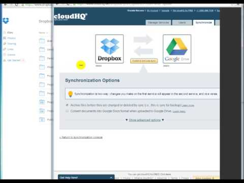Demo on How to Sync Dropbox and Google Drive with Google Apps + cloudHQ