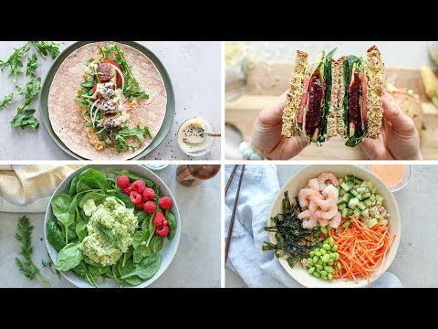 EASY 5 Minute Lunch Recipes   Healthy Lunch Ideas