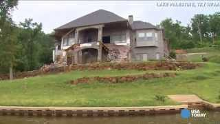 $1 Million lake house slowly collapsing in on itself