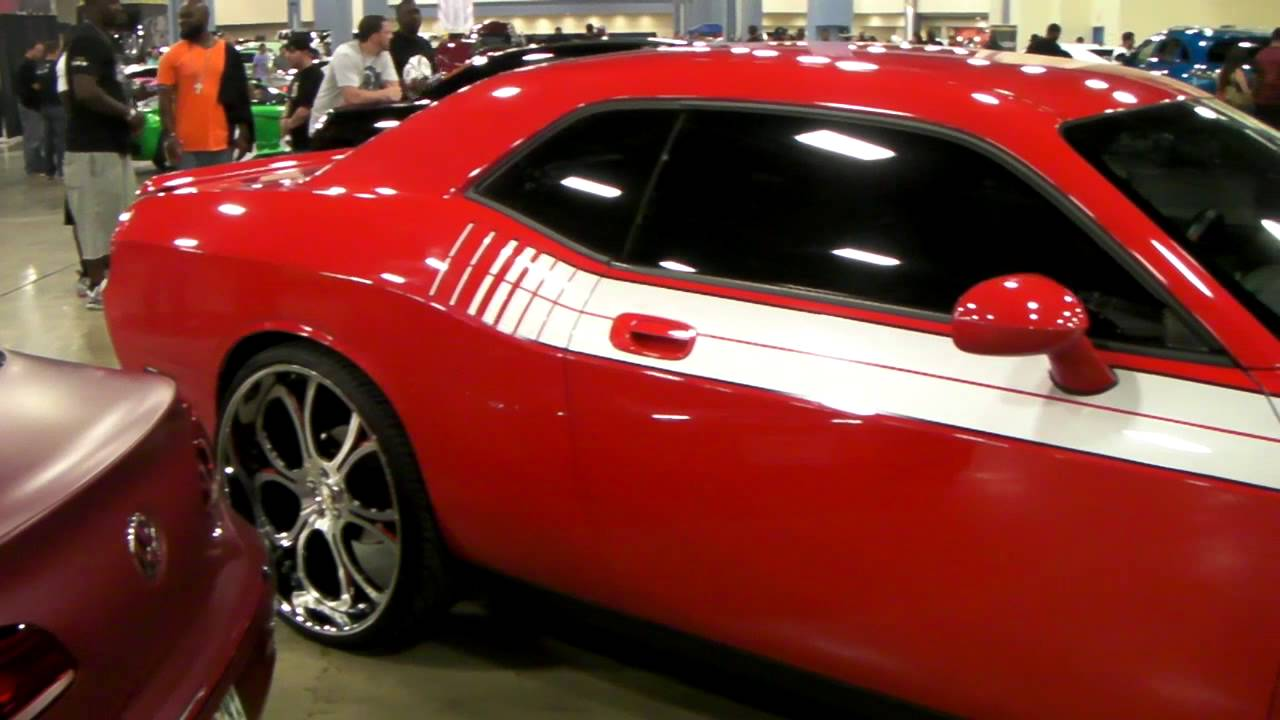 Dodge Challenger 24 Inch Rims >> www.DUBSandTIRES.com 2012 Dodge Challenger Review 24'' Custom silver Machined Wheels - YouTube