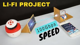Li-Fi project | How to transmit data with light | Best School science project | Indian LifeHacker