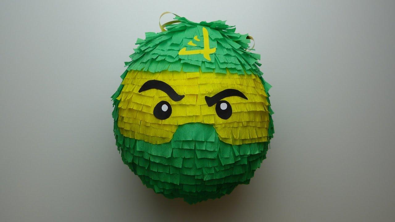 Diy Lloyd Pinata Lego Ninjago Youtube